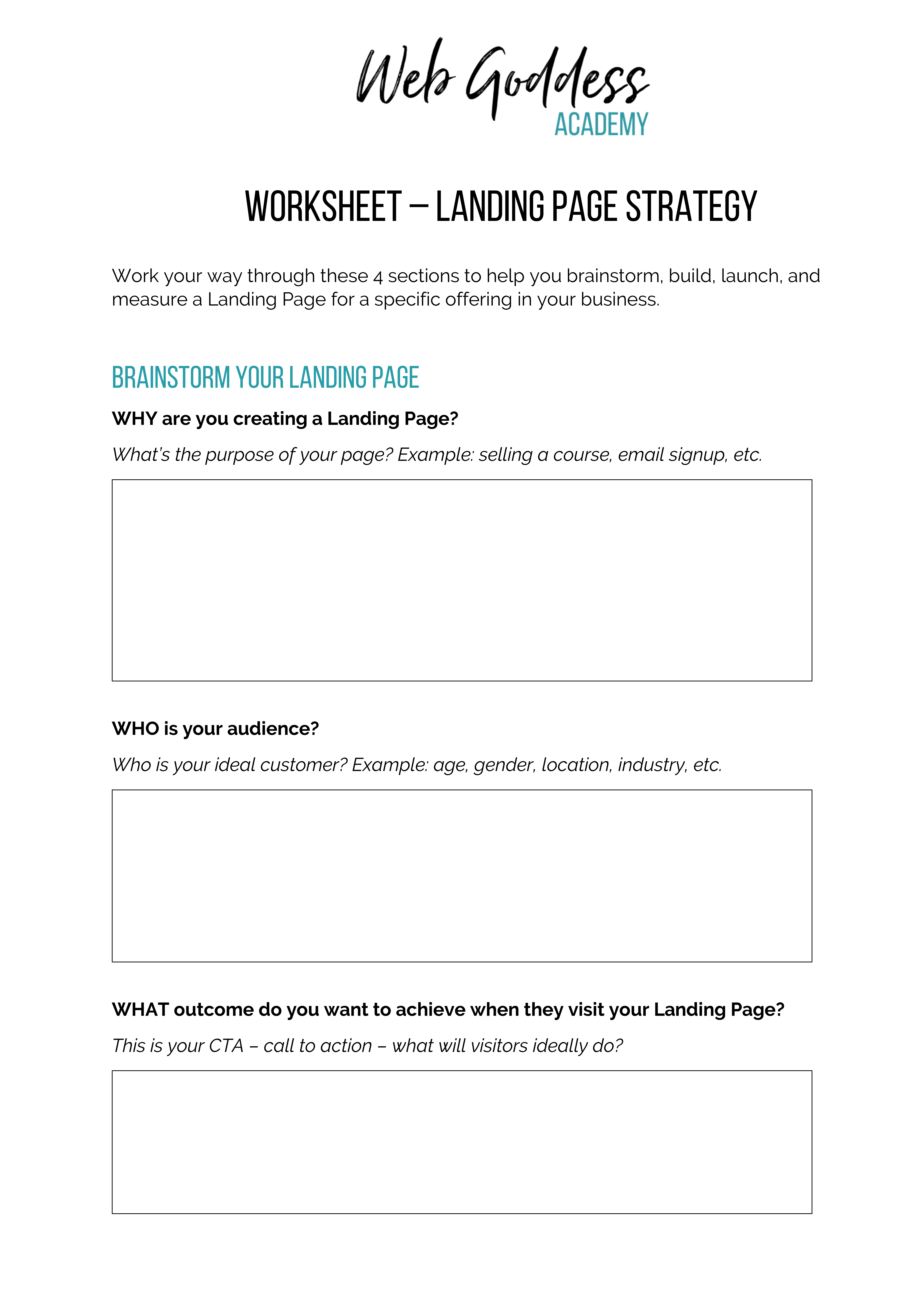 Landing Pages Strategy